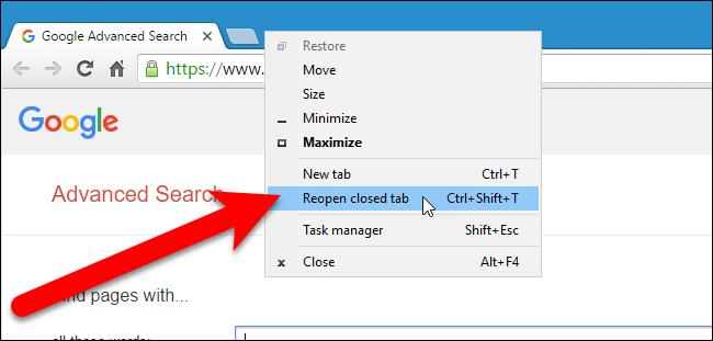 Restore Tabs Chrome