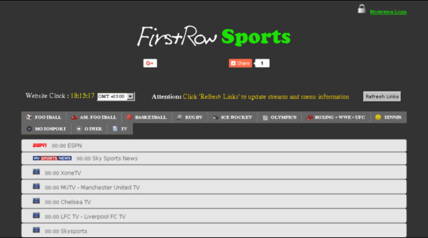 first row sports