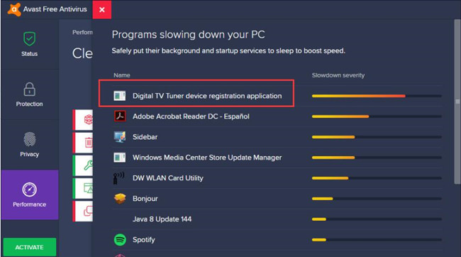 Remove Digital TV Tuner Device